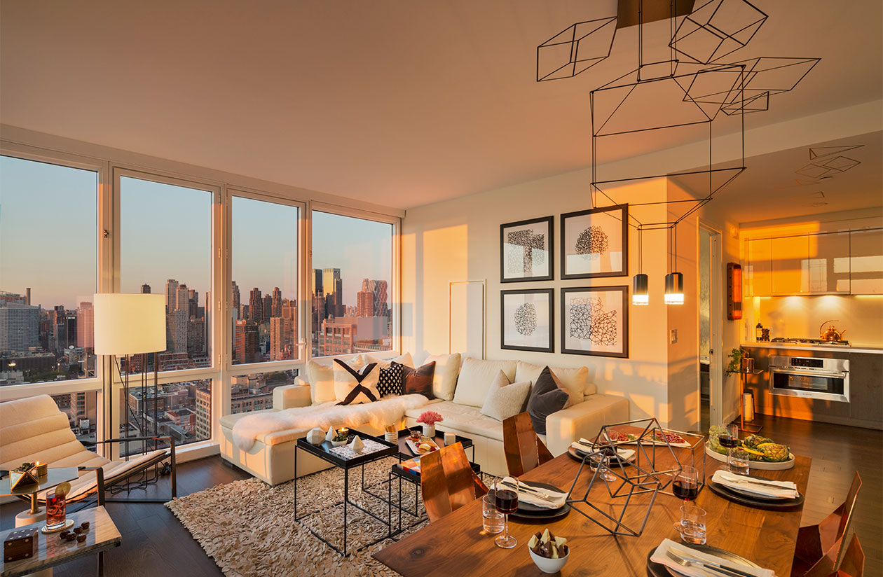 Luxury apartments new york city moinian building sky for Luxury new york city apartments